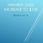 Membership Dues Increase