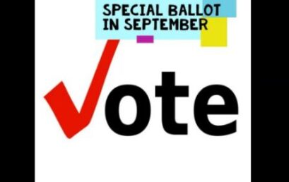 Special Ballot ~ Vote September 25-30, 2020