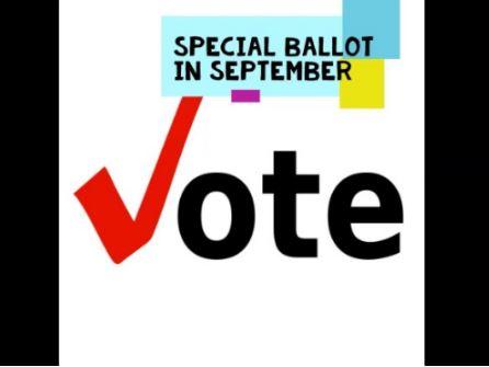 Special Ballot ~ Vote on September 30, 2020