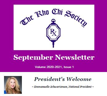 Rho Chi September 2020 Newsletter